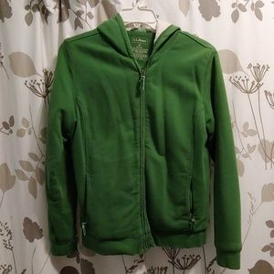 L.L. Bean shearling lined zip up hoodie